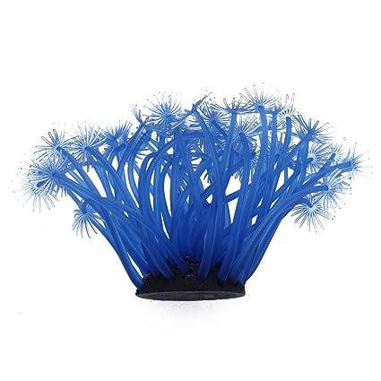 Decoración Acuario Pecera Estanque Coral Azul Artificial Decorativo
