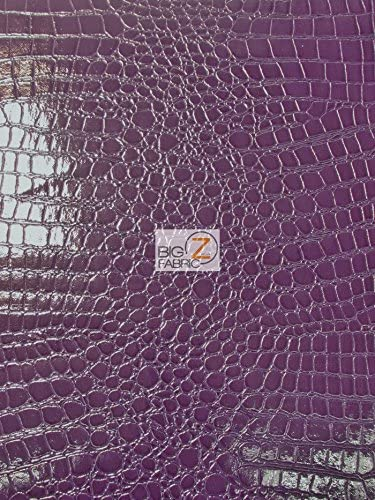 PURPLE PU Leather Look Cloth Upholstery Fabric Material SNAKESKIN