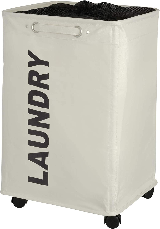 WENKO Quadro Laundry Bin, Beige