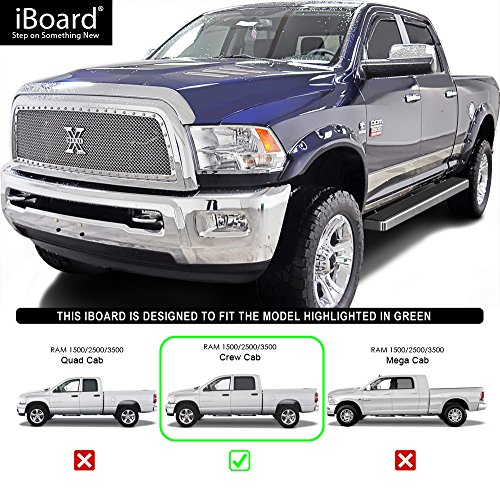 "IBoard Running Boards 5"" Custom Fit 2009-2018 Ram 1500"