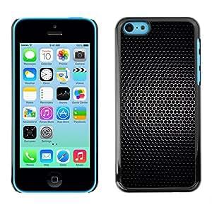 MOBMART Carcasa Funda Case Cover Armor Shell PARA Apple iPhone 5C - Black Net Light Dots