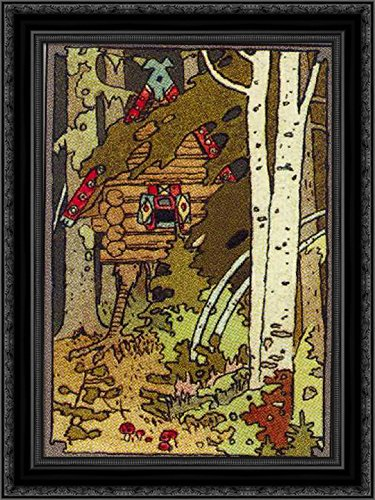 Illustration for The Front Cover of The Book in The Series Tales 24x18 Black Ornate Wood Framed Canvas Art by Ivan -