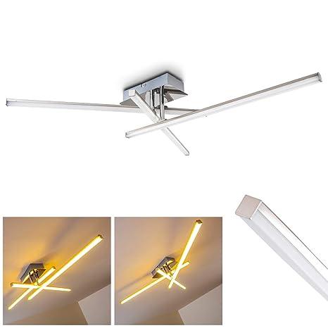 Moderna Lampara de techo LED Georgina - 3x LED 5 Watt alta eficiencia - 500 Lumens cada Luz 3000K blanco cálido - Brazo flexible para cambiar el ...
