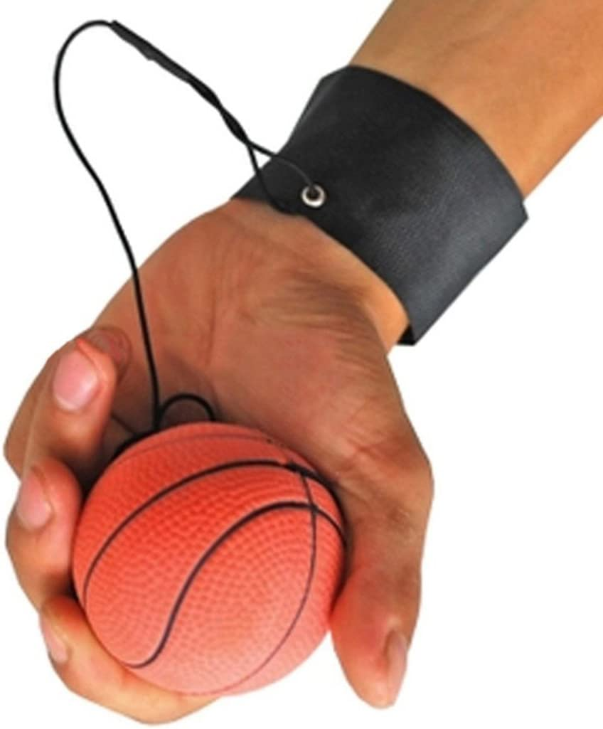 Fansport Wrist Band Ball String Ball Toy Rubber High Bounce Stress Relief Training Ball Gift for Kids Adults