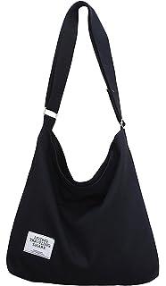 1313cf31a4f Covelin Women s Retro Large Size Canvas Shoulder Bag Hobo Crossbody Handbag  Casual Tote
