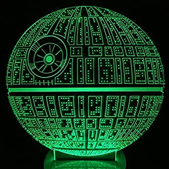 MeiTuKanKan 3257 The Force Awakens Multi Colored Table Lamp 3D Death Star  Bulbing Light For Star Wars Fans     Amazon.com