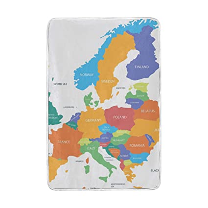 Amazon com: GOEPULY Europe Map with Countries Ultra Soft