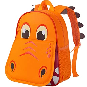 Amiley Girl/'s Nylon Hit Color Shoulder School Bag Backpack for Kids Girls Dark Blue Toddler School Bags