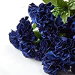 Factory-Direct-Craft-Royal-Navy-Poly-Silk-Carnation-Bud-Bush-for-Indoor-Decor