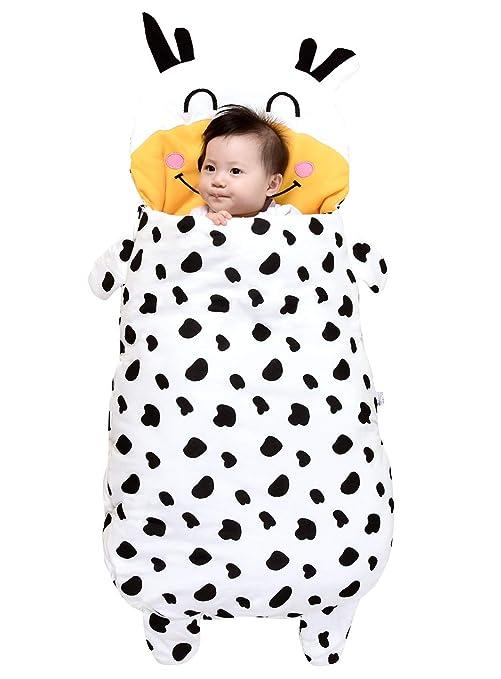 YANYINGBEIER - Saco de Dormir bebé Recién Nacido Invierno Otoño Animado Anti-patada Edredón Swaddle