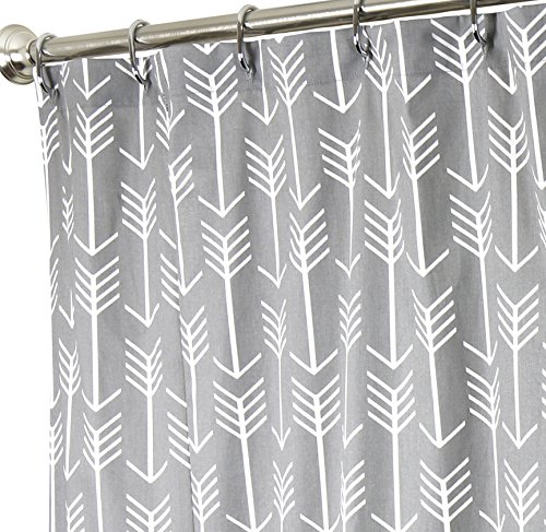 Amazon Extra Long Shower Curtain Fabric Curtains Bathroom Arrow Gray 96 Home Kitchen
