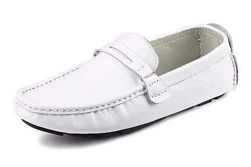 CCZZ Mocasines Hombre Cuero Loafers Casual Zapatos de Conducción Comodidad Calzado Plano 37-45 EU: Amazon.es: Zapatos y complementos