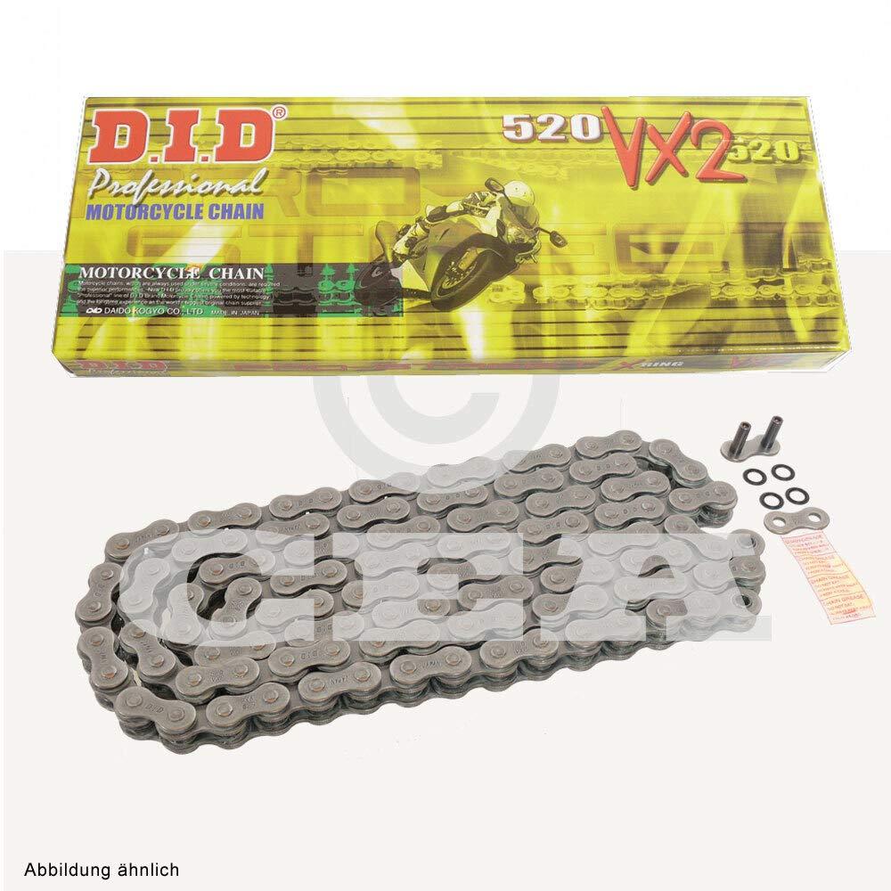 Kettensatz geeignet f/ür KTM Duke 125 14-18 Kette DID 520 VX2 112 offen 14//45
