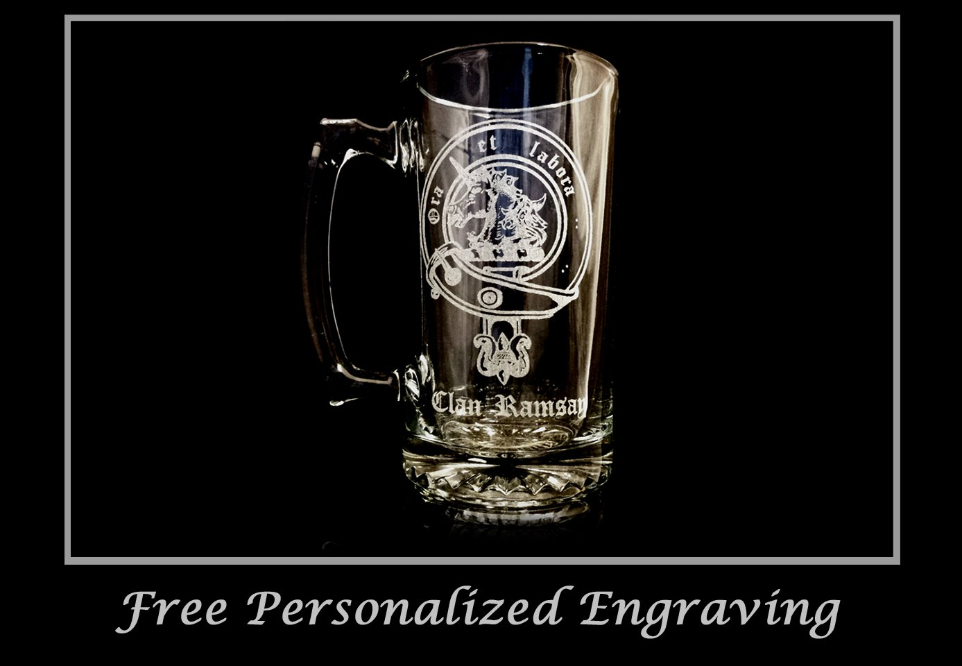 Clan Ramsay Scottish Crest 27oz Stein