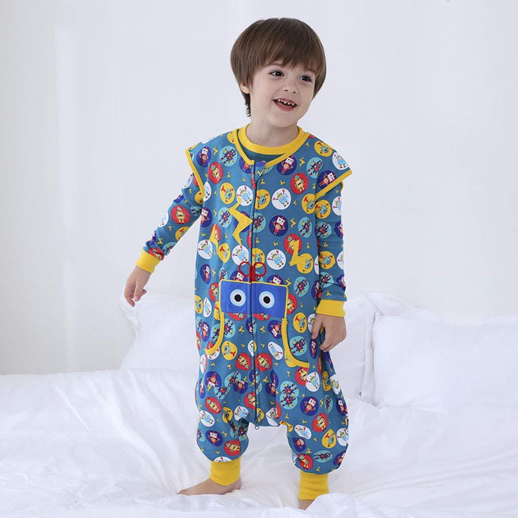 Sacco Nanna 1.5 Tog Sacco a pelo per Bambino con le Gambe Cerniera Frontale 1-3 Anni