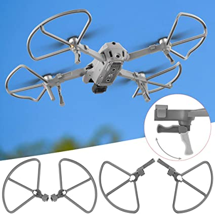 GEEMEE 2 in 1 Propeller Guard for DJI Mavic Air 2 Props Protector with Extended Foldable Landing Gear Legs Props Bumper Protective Cover Compatible with DJI Mavic Air 2 Drone Accessories