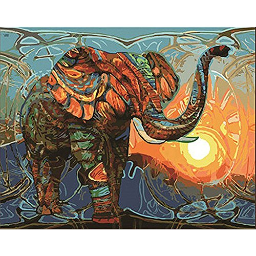 Paint By Numbers Abstract Painting Home Decor Arts 16X20 Inches Elephant Animals by LICSE