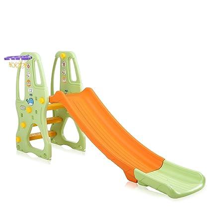 Baby Vivo Scivolo Per Bambini Bimbi Giardino Esterni Interno Parco Da Plastica Struttura Per Arrampicarsi Con Scivolo In Arancio Verde