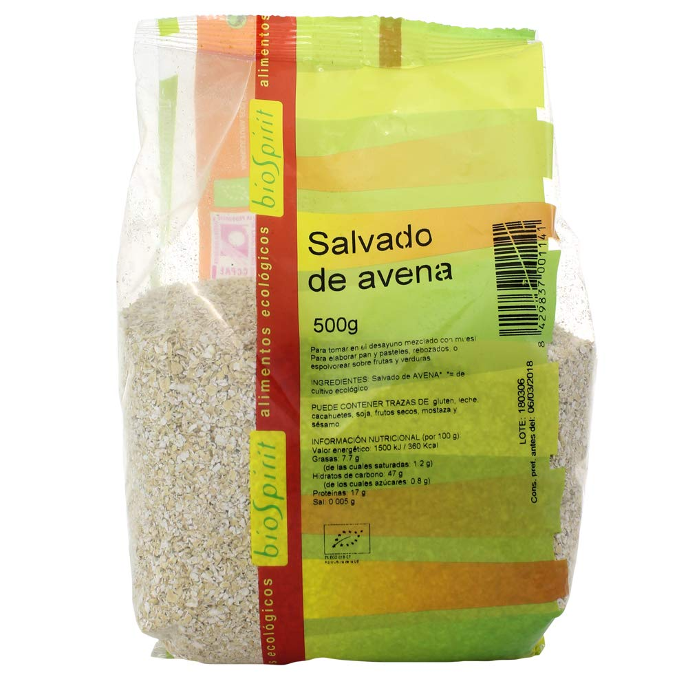 Biospirit Salvado de Avena Bio - 500 gr: Amazon.es ...