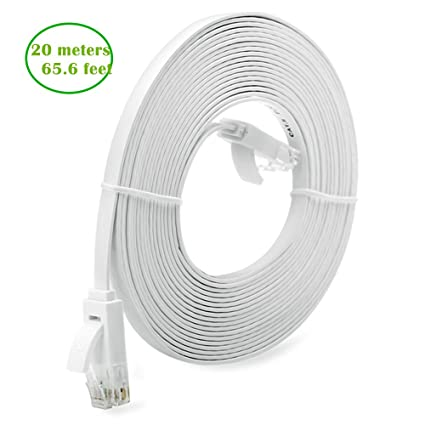 Amazon.com: 2 Pack - 16 ft Inthernet Cable Cat 6 with RJ45 ...
