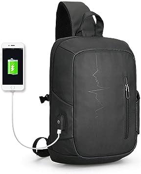 Men/'s Bag USB charging Shoulder Crossbody Bags Water-Resistant Oxford Travel Bag