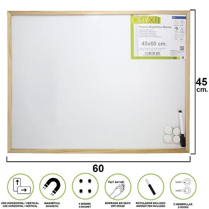 Oryx 3081160 Pizarra Magnetica Blanca 45x60 cm. Con ...
