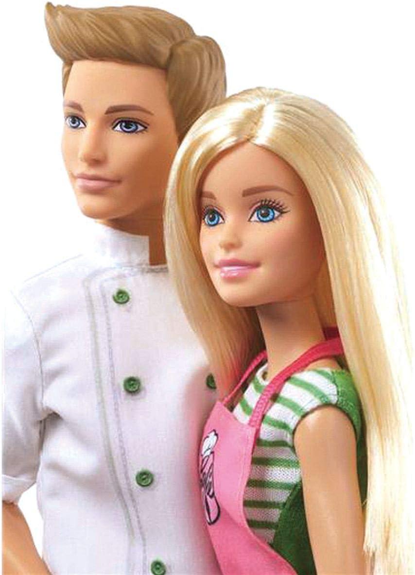 Amazon.es: Barbie y Ken cocineros, muñeca y muñeco con accesorios ...