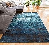 Longlac Blue Vintage Stripe Modern Casual 2x4 ( 2'3' X 3'11' ) Area Rug...