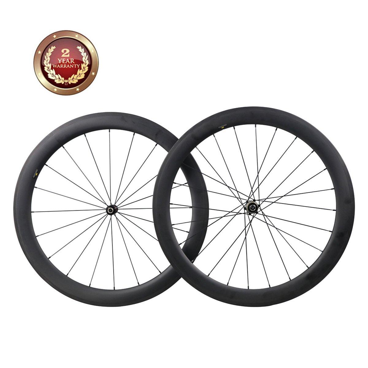 Flashfox 700C 30mm Road Bicycle Rims 25mm Width Tubular carbon fiber road wheels