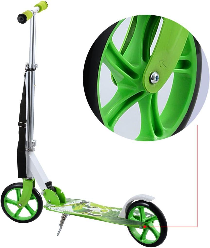 Adultos postura – Patinete plegable de 2 ruedas truco Push Kick ...