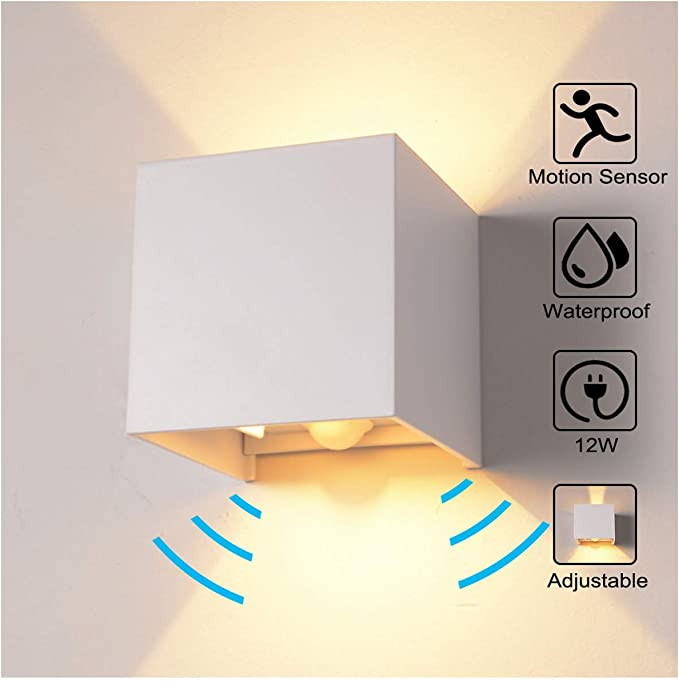 7W//12W LED Wandlampe Modern Schlafzimmer Flur Wandleuchte Eingangsflur IP65