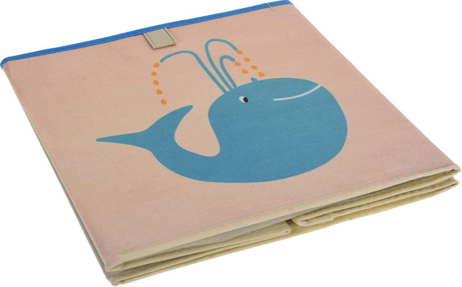 LS-LebenStil Kinder Aufbewahrungsbox Deplhin Spielzeugkiste faltbar 32cm Kiste Schublade Spielzeug Aufbewahrungsw/ürfel