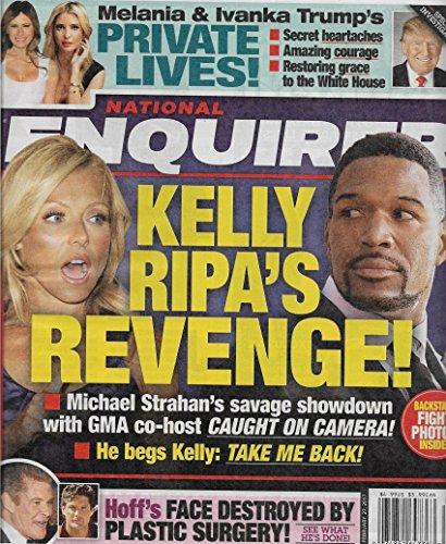 Kelly Ripa Vs  Michael Strahan L Donald  Melania   Ivanka Trump L David Hasselhoff   February 27  2017 National Enquirer