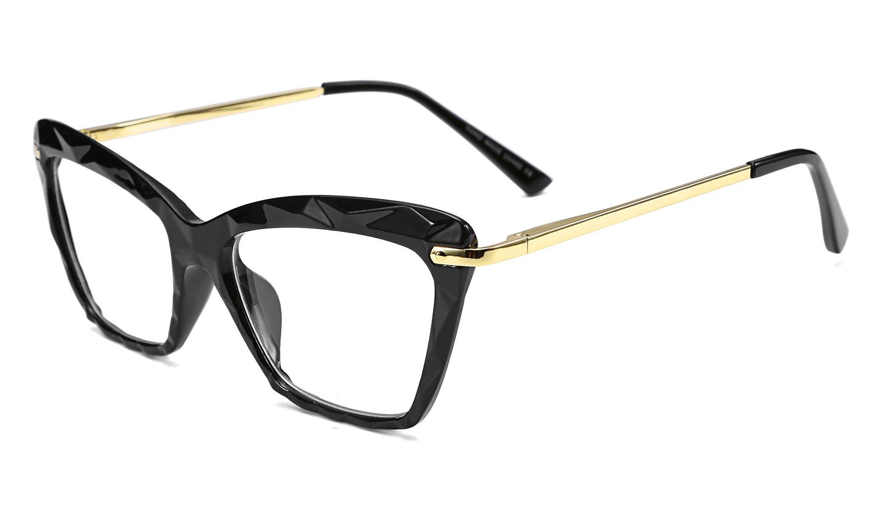 FEISEDY Cateye Crystal Transparent Eyewear Clear Lens Glasses Frame B2440