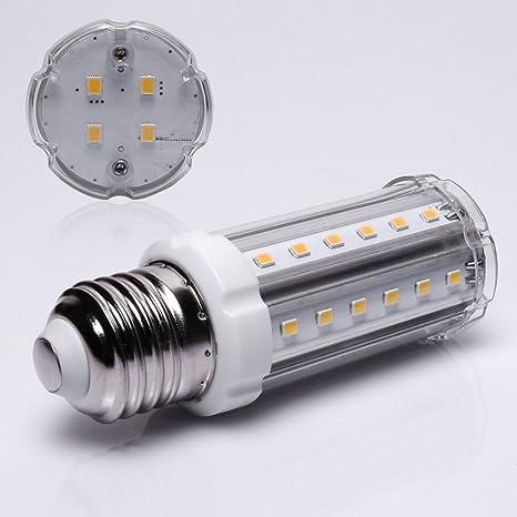 Distintivo E27 15 vatios de luz blanca cálida Bombilla LED de ángulo de haz de luz ...