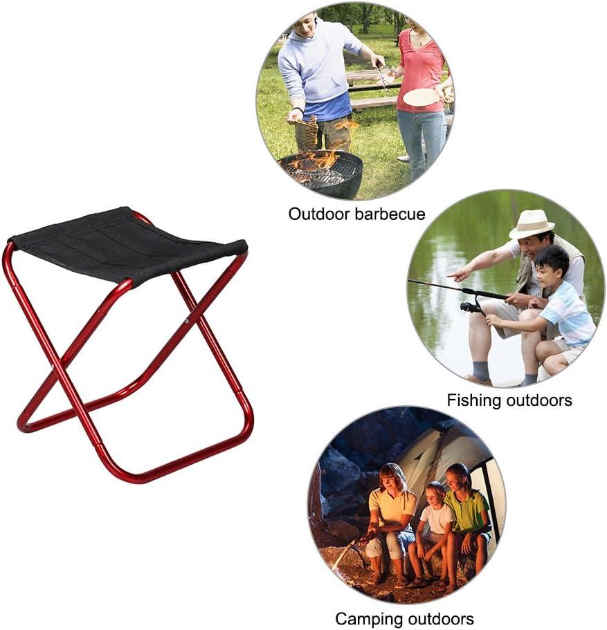 Tabouret Pliant Camping Tabouret L/éger pour Camping en Plein Air BBQ P/êche Randonn/ée Jardinage Int/érieur Bleu mer Pur SLW Tabouret T/élescopique Portable