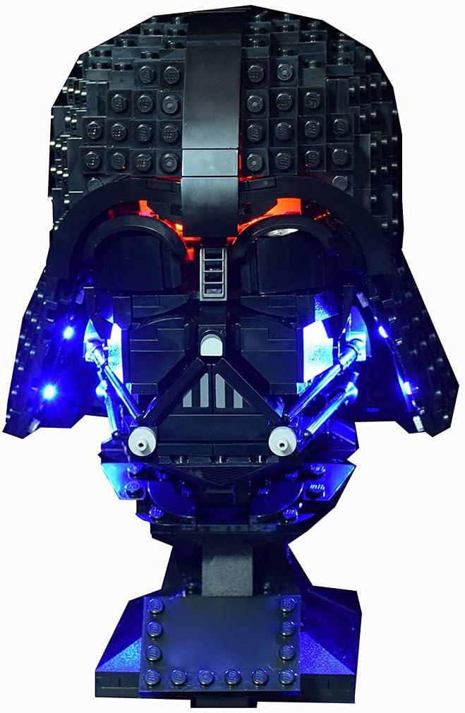 SEREIN Kit de iluminación LED para Lego 75304 Star Wars Casco de Darth Vader, Juego de luces compatible con LEGO 75304 Bloques de Construcción (Solo luz LED)