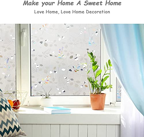 LEMON CLOUD Window Film Privacy Stained Glass Decorative Window Film 35.4In. by 157.4In