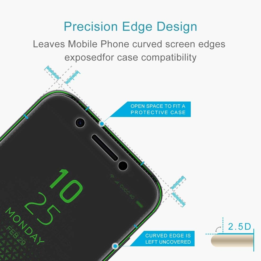 No Retail Package ProtectoresYHM 50 PCS 0.26mm 9H 2.5D Tempered Glass Film for Xiaomi Black Shark