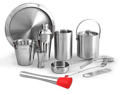 Buy King International Stainless Steel Bar Set Of 12 Pieces 1