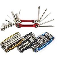Senven 11-in-1 fietsreparatiegereedschap, draagbaar, multifunctioneel, fietsreparatiegereedschap, licht en compact…