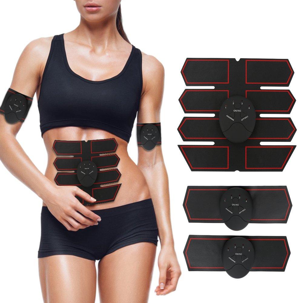 tragbarer Muscle Trainer mit Rhythm Weich Impulse mit Einfache Bedienung/ /ABS Toner Fitness Equipment f/ür Bauch//Arm//Bein Training Bauchmuskeln Trainingsger/ät bqlove ABS Stimulator