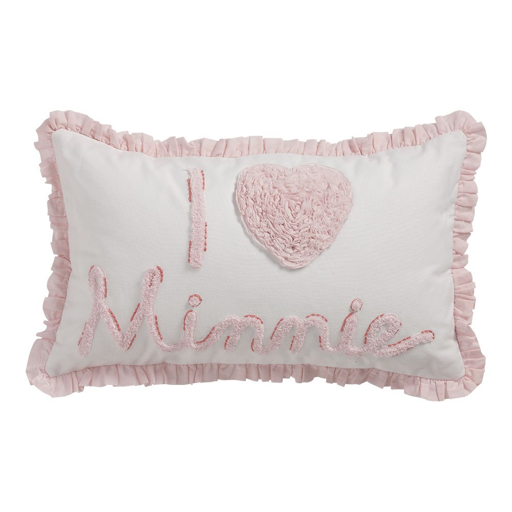 Ethan Allen | Disney Minnie Mouse Really Ruffle Minnie Mouse Boudoir Pillow, Petal Pink