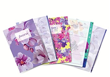Filofax – Hojas de recambio para agenda (A5, estampado Floral, año 2017)