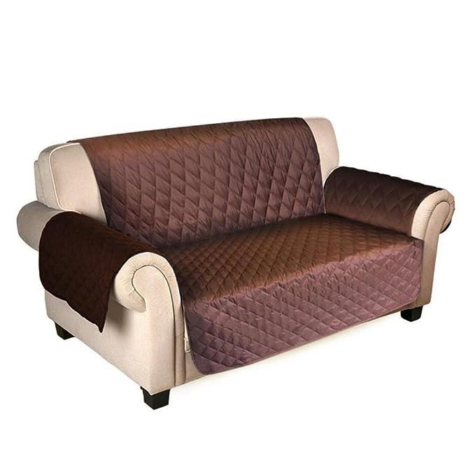 Sobotoo Funda de sofá Impermeable, Reversible, 2 plazas, Protector de sofá Antideslizante, para Perro, Gato, Mascota, Impermeable, Protector de ...