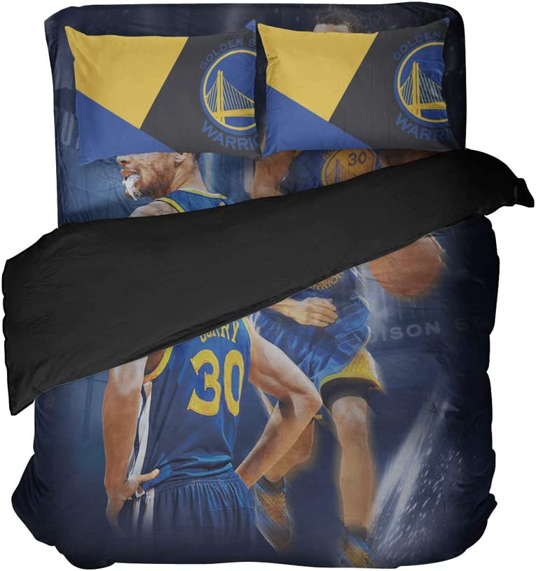 Cospnt California State Sports Bedding Sheet Sets Basketball Player Number 30 Bed Sets Twin for Teen Children