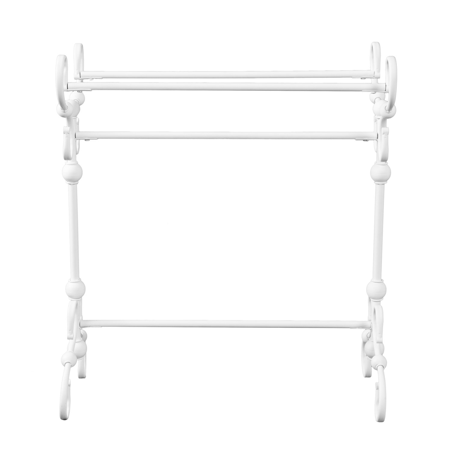 Furniture HotSpot - Blanket Rack - White - 28.5'' W x 14'' D x 32'' H by Furniture HotSpot