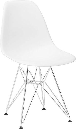 Set of 4 Mid Century Modern Molded Chair Eiffel Style Metal Legs