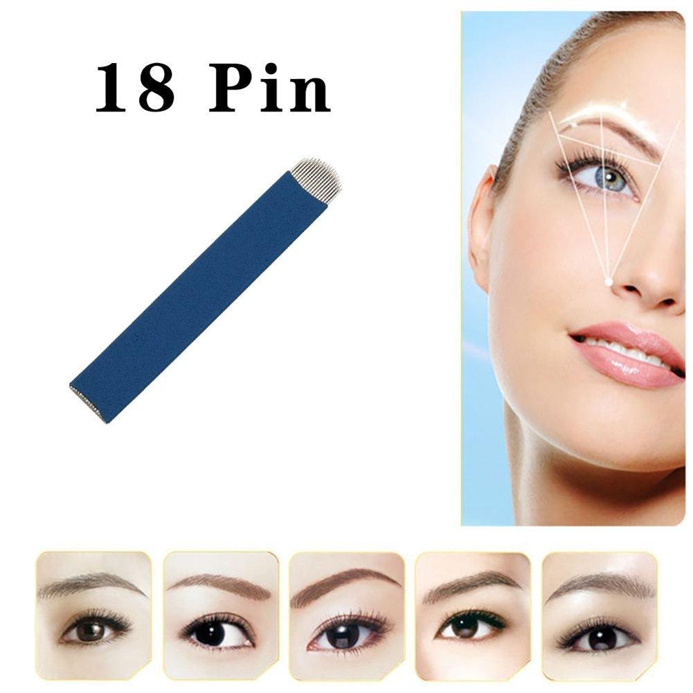 Amazon.com: Professional Manual Eyebrow Tattoo Needles 18 Pin ...