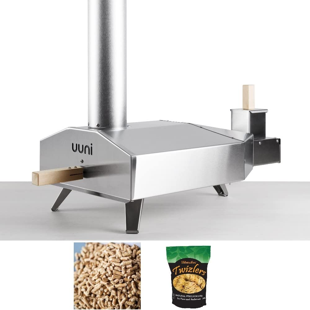 Horno Unni 3 para pizzas, con accesorios para encender el fuego